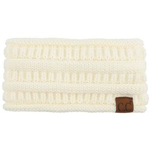 Solid cable knit C.C headwrap in IVORY